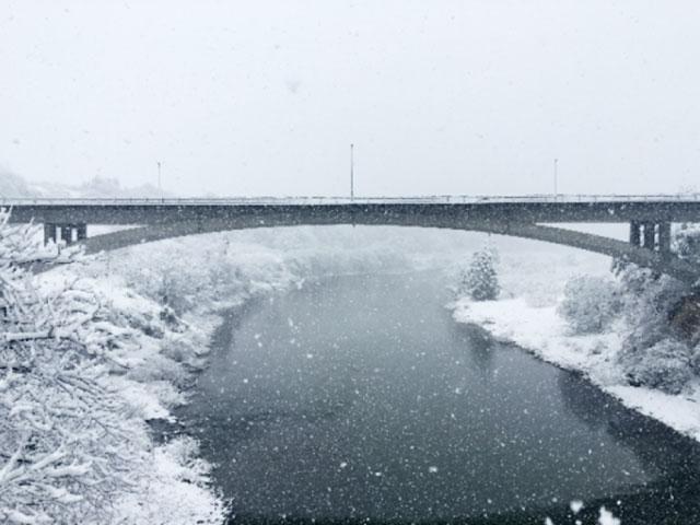 朝日町玉ノ井  R287沿い 眼鏡橋 撮影